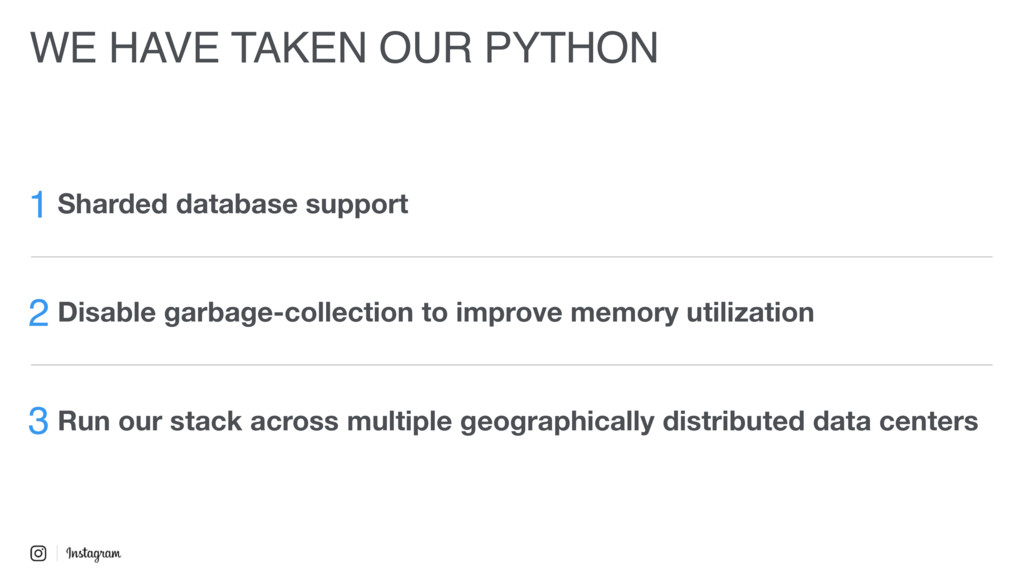 WE HAVE TAKEN OUR PYTHON 1 Sharded database sup...