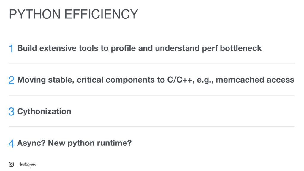 PYTHON EFFICIENCY 1 Build extensive tools to pr...