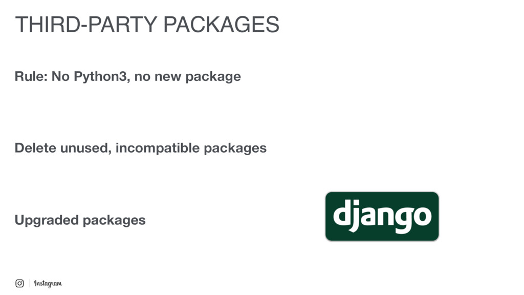Upgraded packages Rule: No Python3, no new pack...