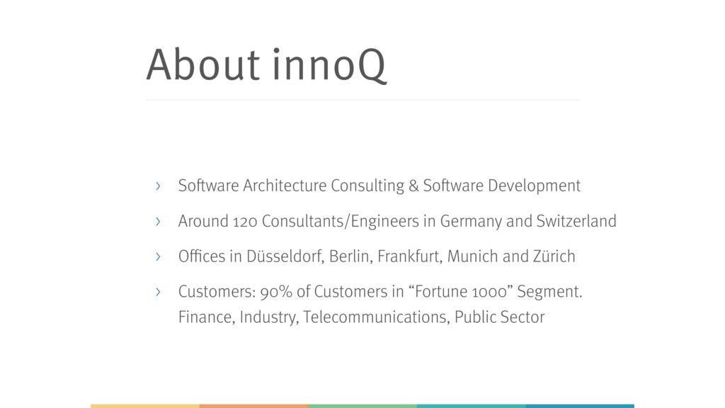 About innoQ > Software Architecture Consulting ...