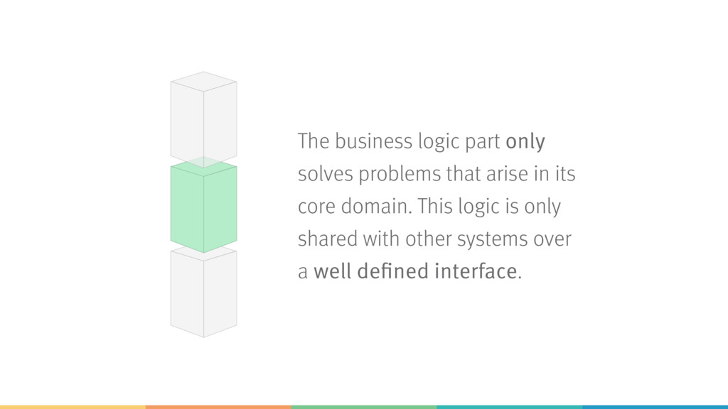 The business logic part only solves problems th...
