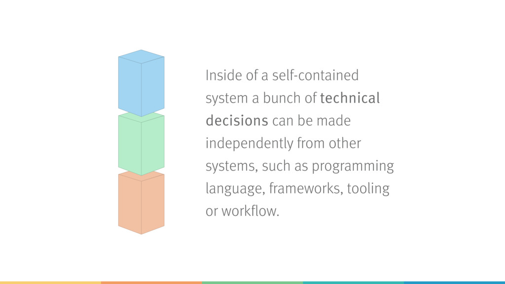 Inside of a self-contained system a bunch of te...