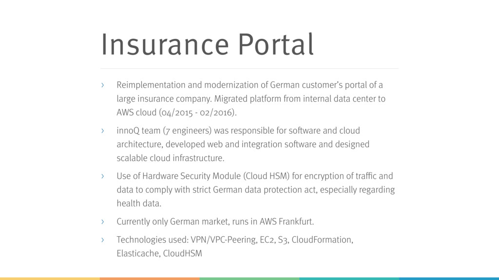 Insurance Portal > Reimplementation and moderni...