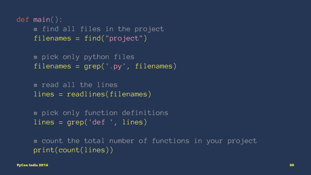 def main(): # find all files in the project fil...