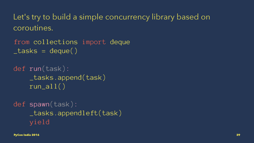 Let's try to build a simple concurrency library...