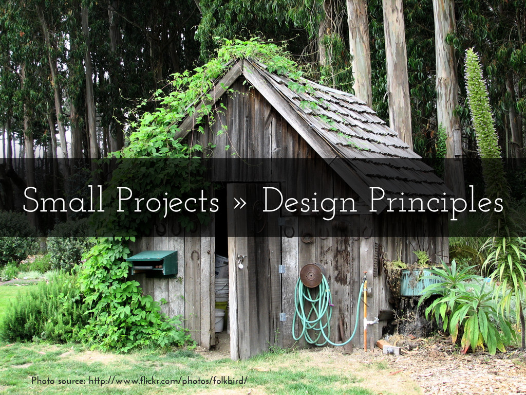 Small Projects » Design Principles Photo source...