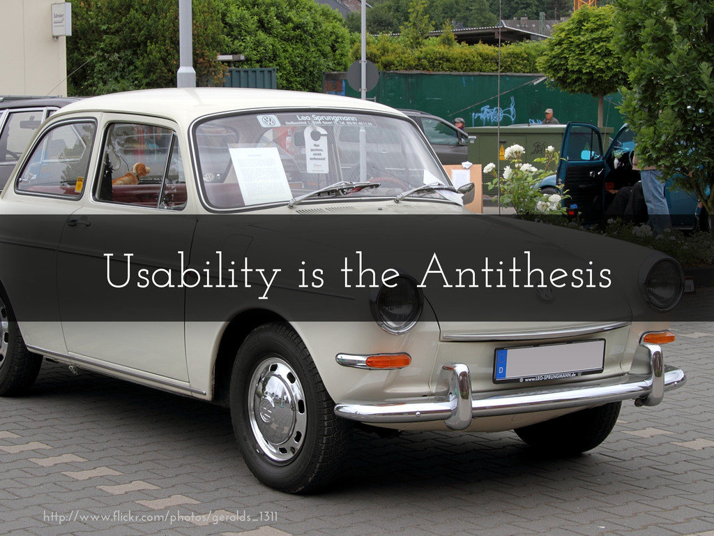 Usability is the Antithesis http://www.flickr.c...