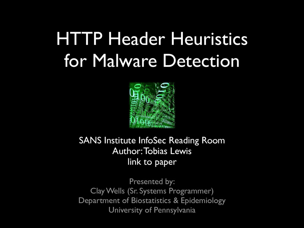 HTTP Header Heuristics for Malware Detection ...