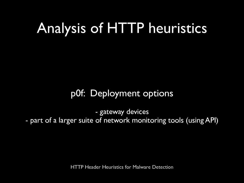 HTTP Header Heuristics for Malware Detection An...