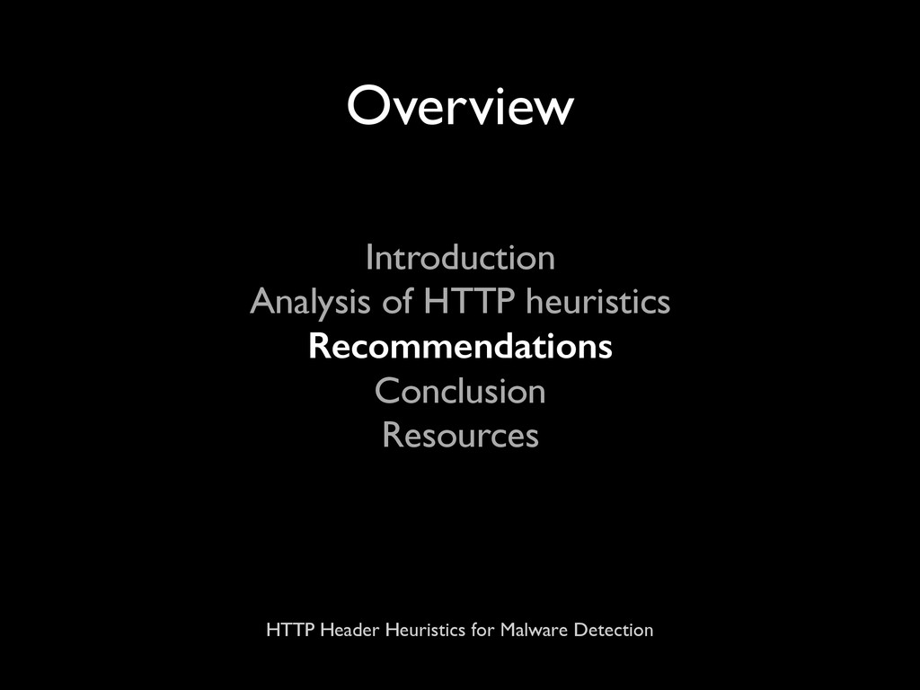 HTTP Header Heuristics for Malware Detection Ov...