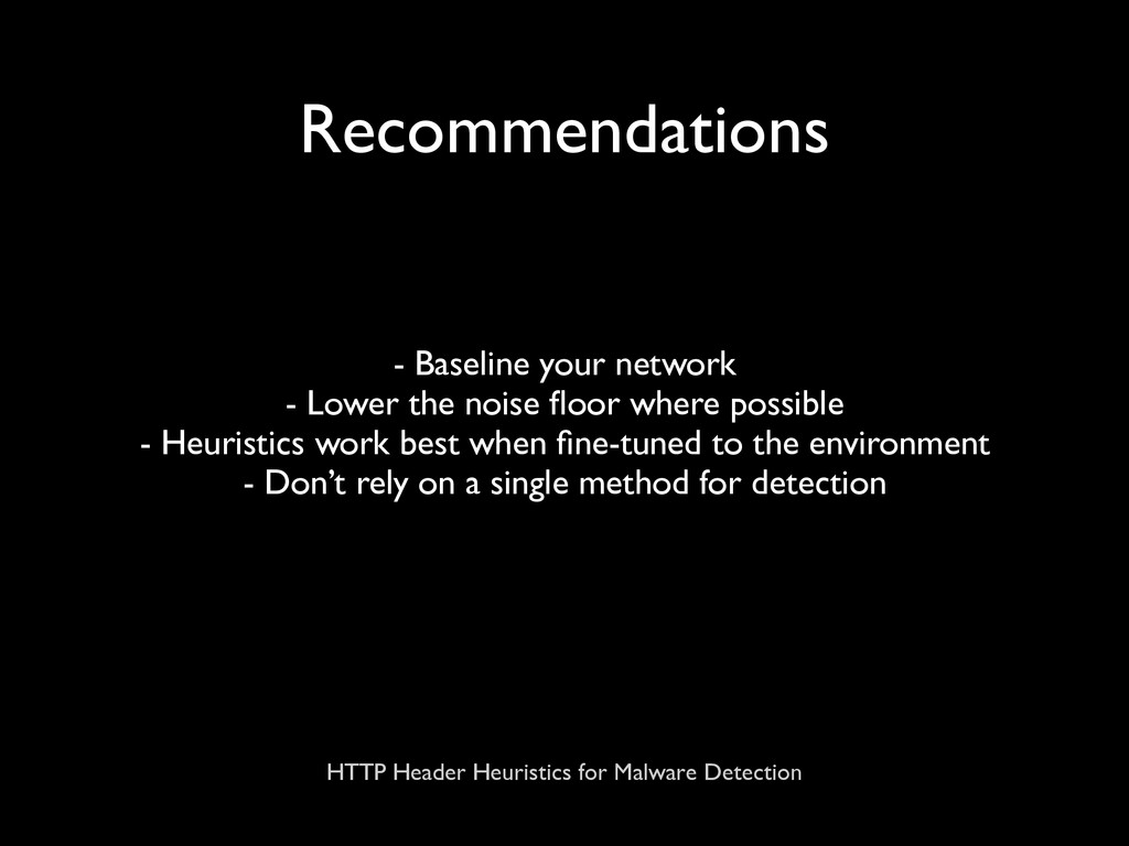 HTTP Header Heuristics for Malware Detection Re...