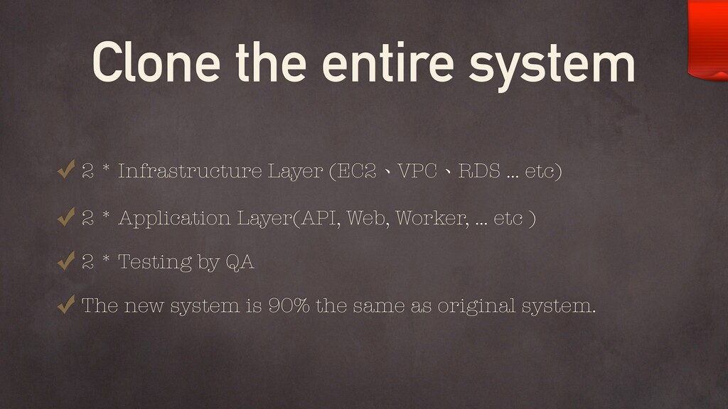 Clone the entire system 2 * Infrastructure Laye...