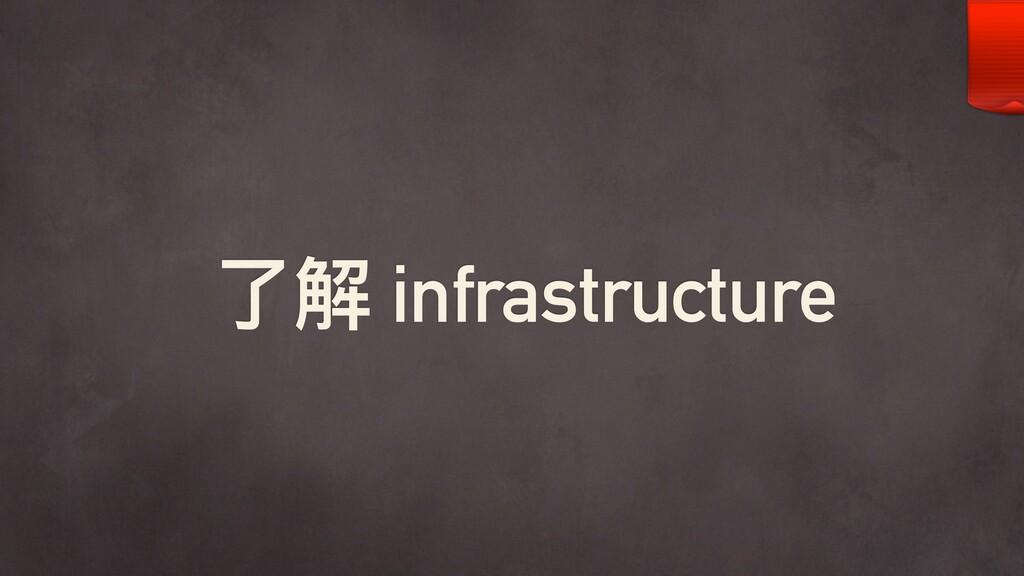 了了解 infrastructure