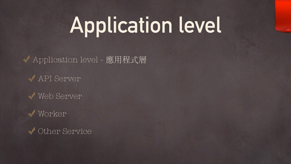 Application level Application level - 應⽤程式層 API...