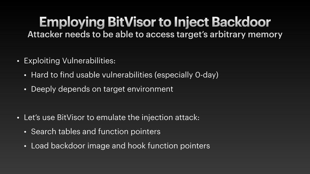 Employing BitVisor to Inject Backdoor Attacker ...