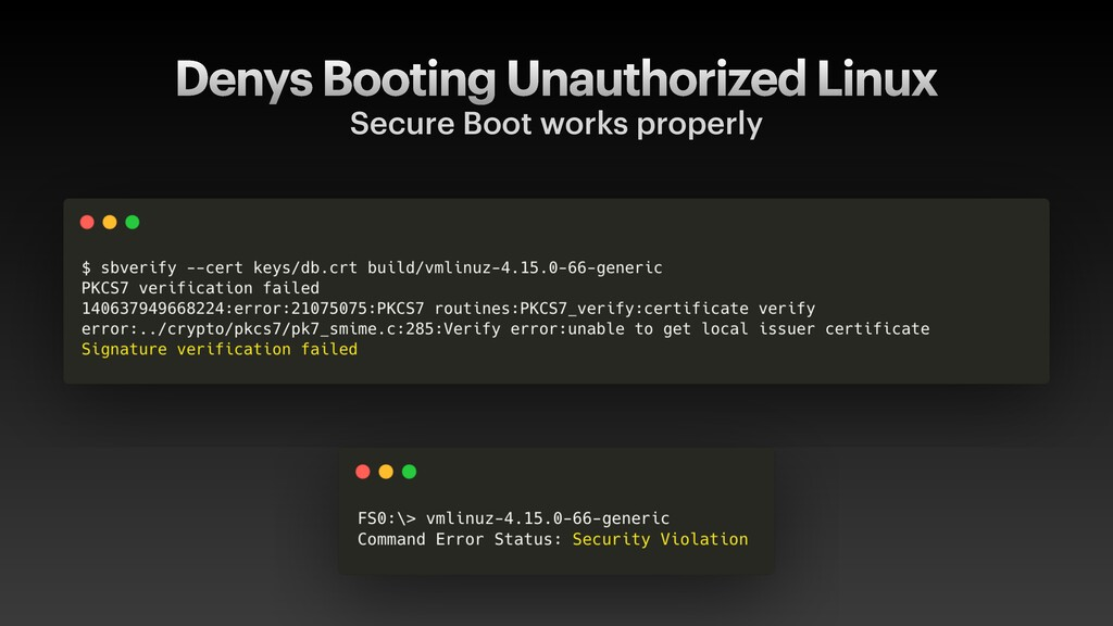 Denys Booting Unauthorized Linux Secure Boot wo...
