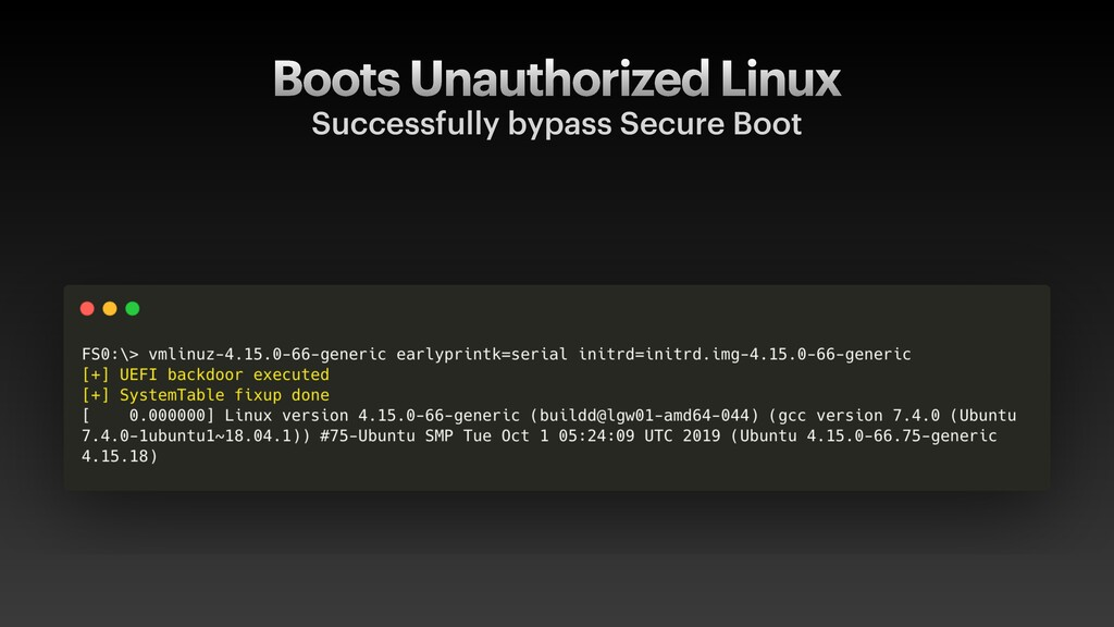 Boots Unauthorized Linux Successfully bypass Se...