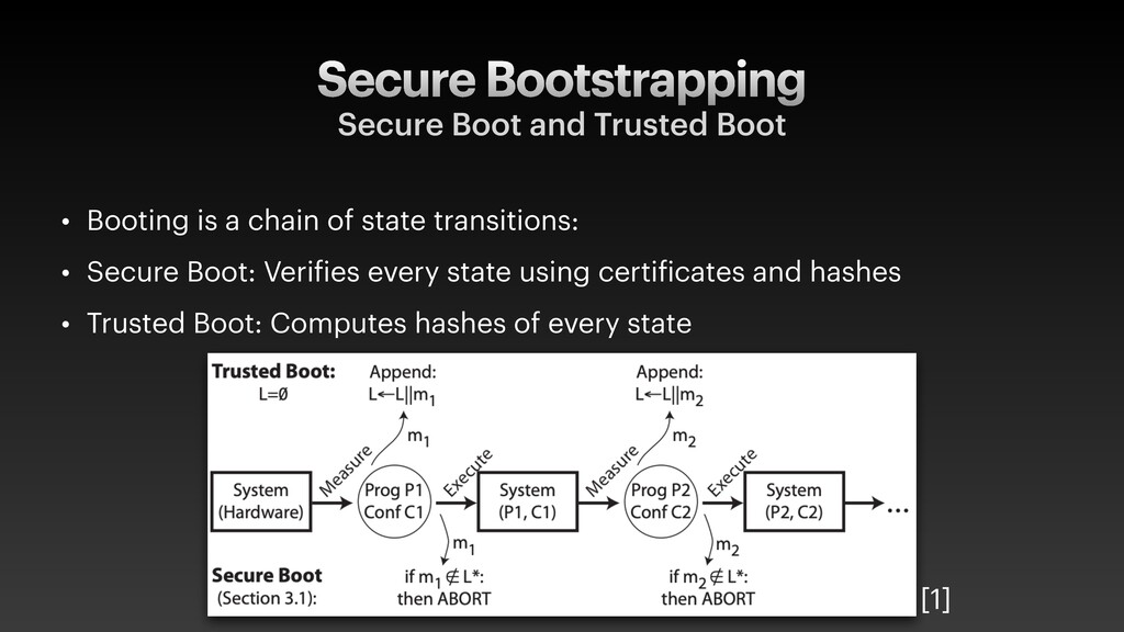 Secure Bootstrapping Secure Boot and Trusted Bo...