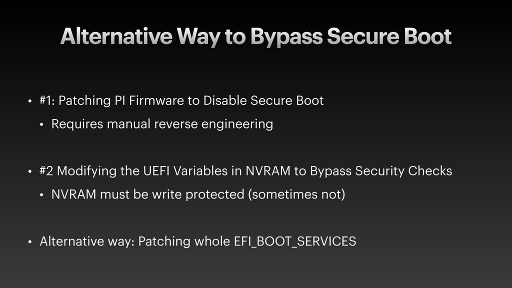 Alternative Way to Bypass Secure Boot • #1: Pat...