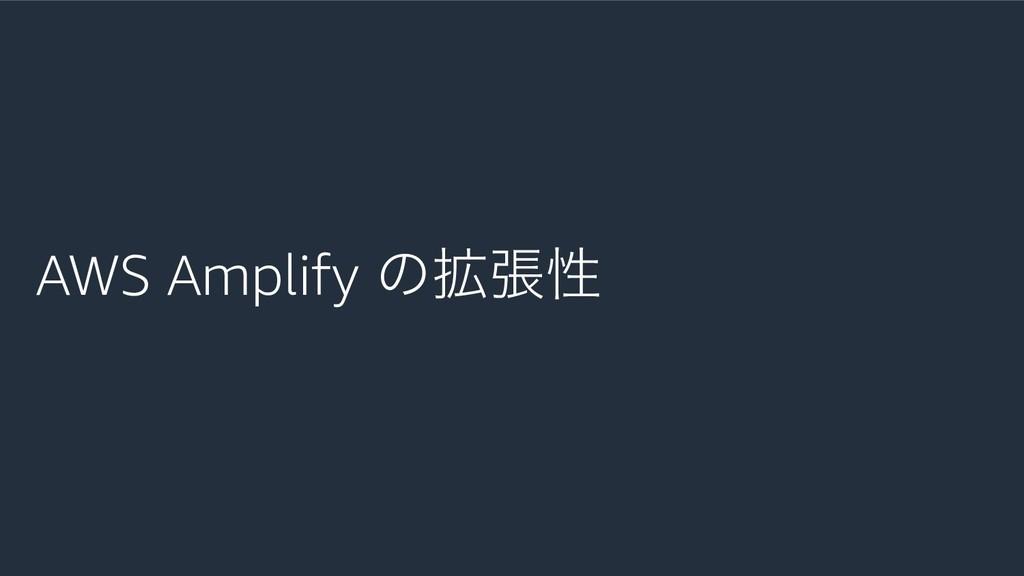 AWS Amplify ͷ֦ுੑ
