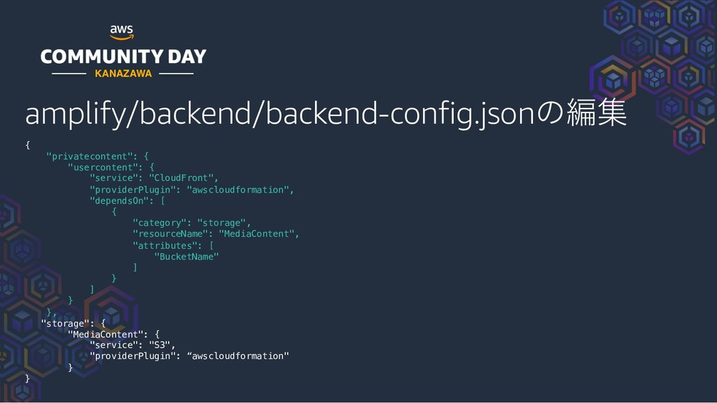 """amplify/backend/backend-config.jsonͷฤू { """"priva..."""