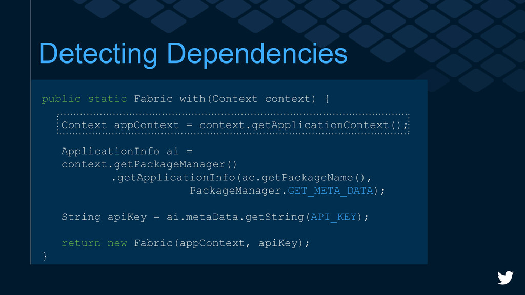 Detecting Dependencies public static Fabric wit...