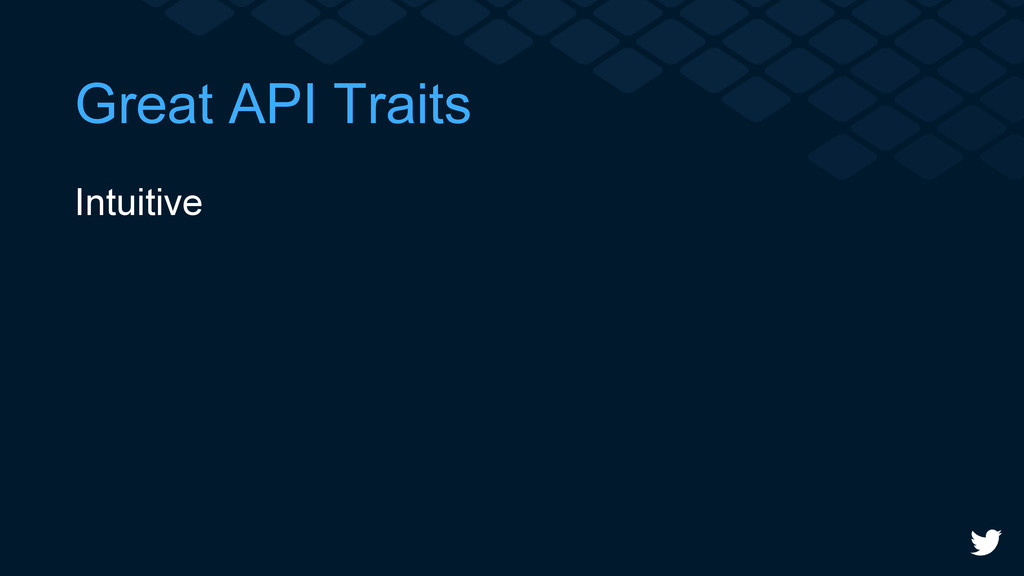 Great API Traits Intuitive
