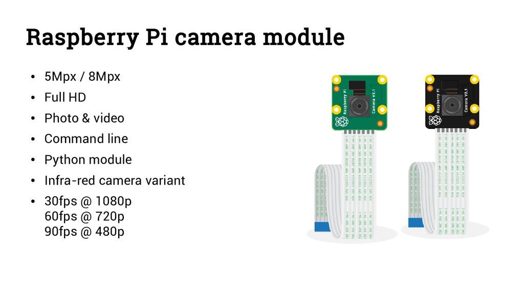 Raspberry Pi camera module ● 5Mpx / 8Mpx ● Full...
