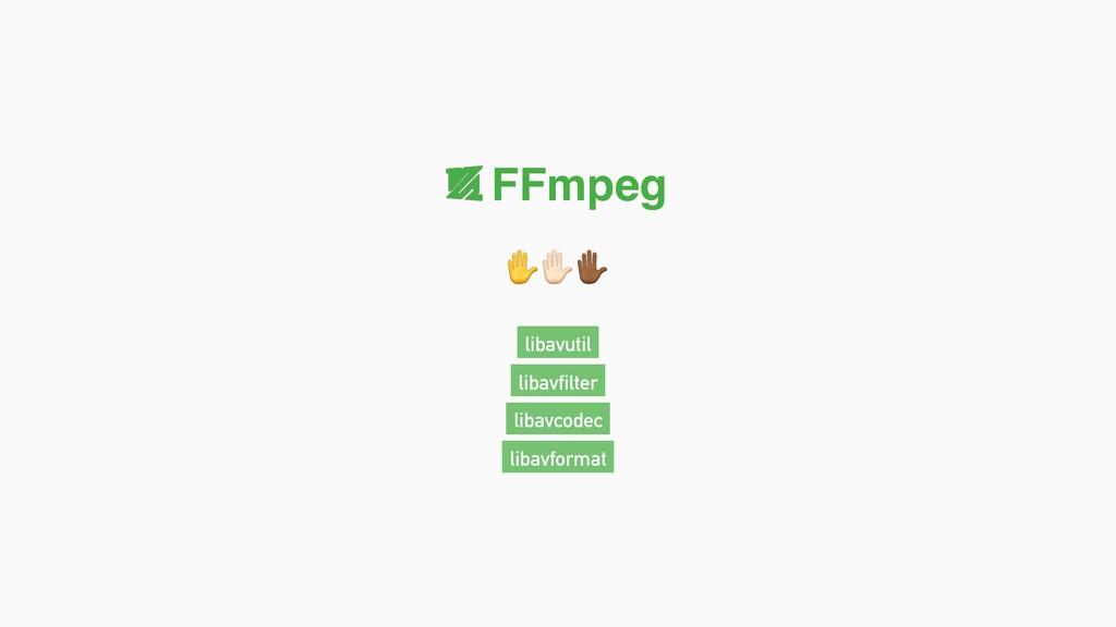 "✋""# FFmpeg libavformat libavcodec libavutil lib..."