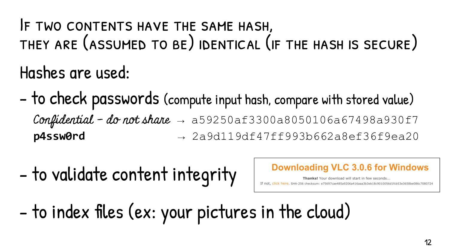 This example uses the crypt(3) hash. ...unless ...