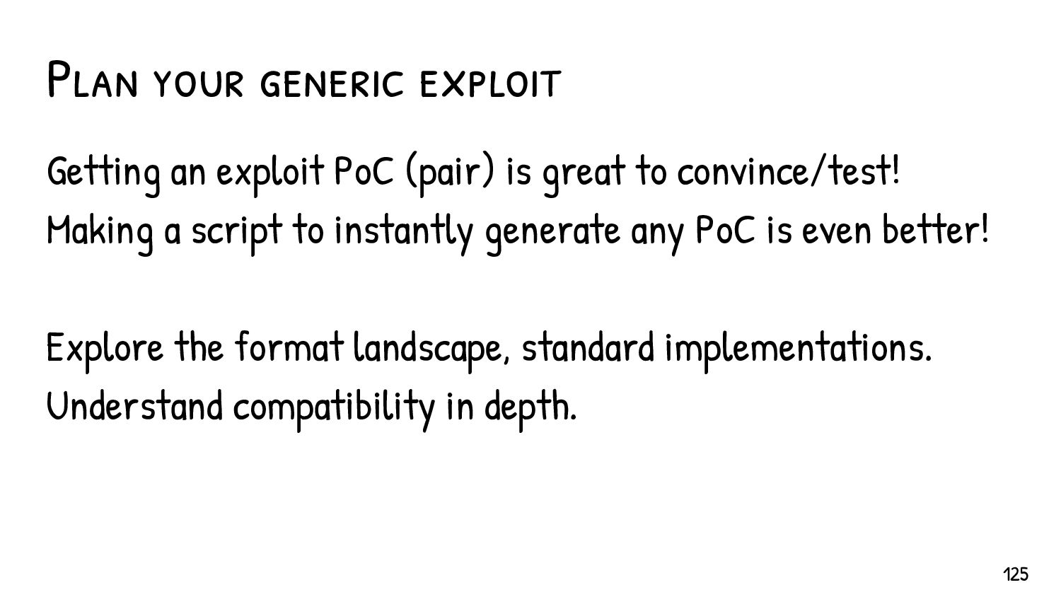 Making it generic The size of {Chunk A } is unk...
