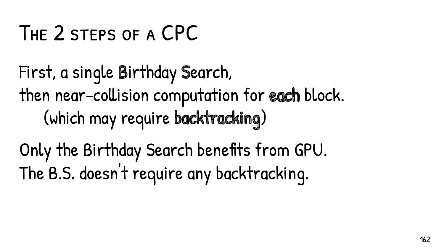 The fewer the blocks, the more complex the B.S....