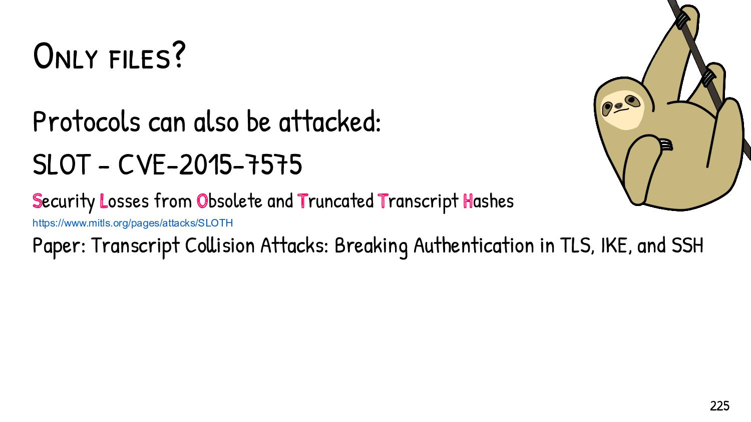 Hash collisions in CTF 225