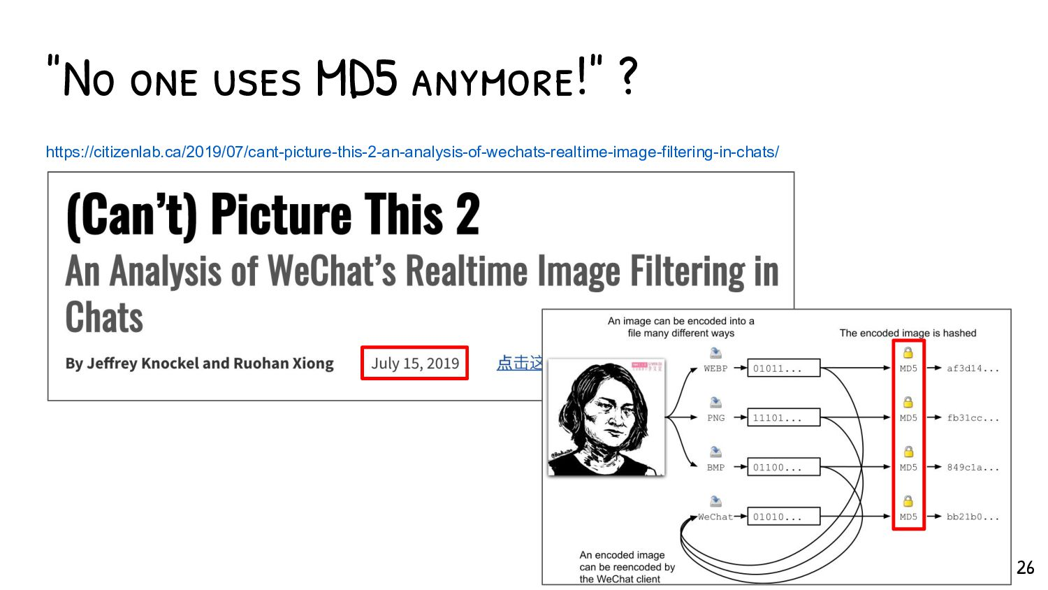 the Shattered attack A computation of the attac...