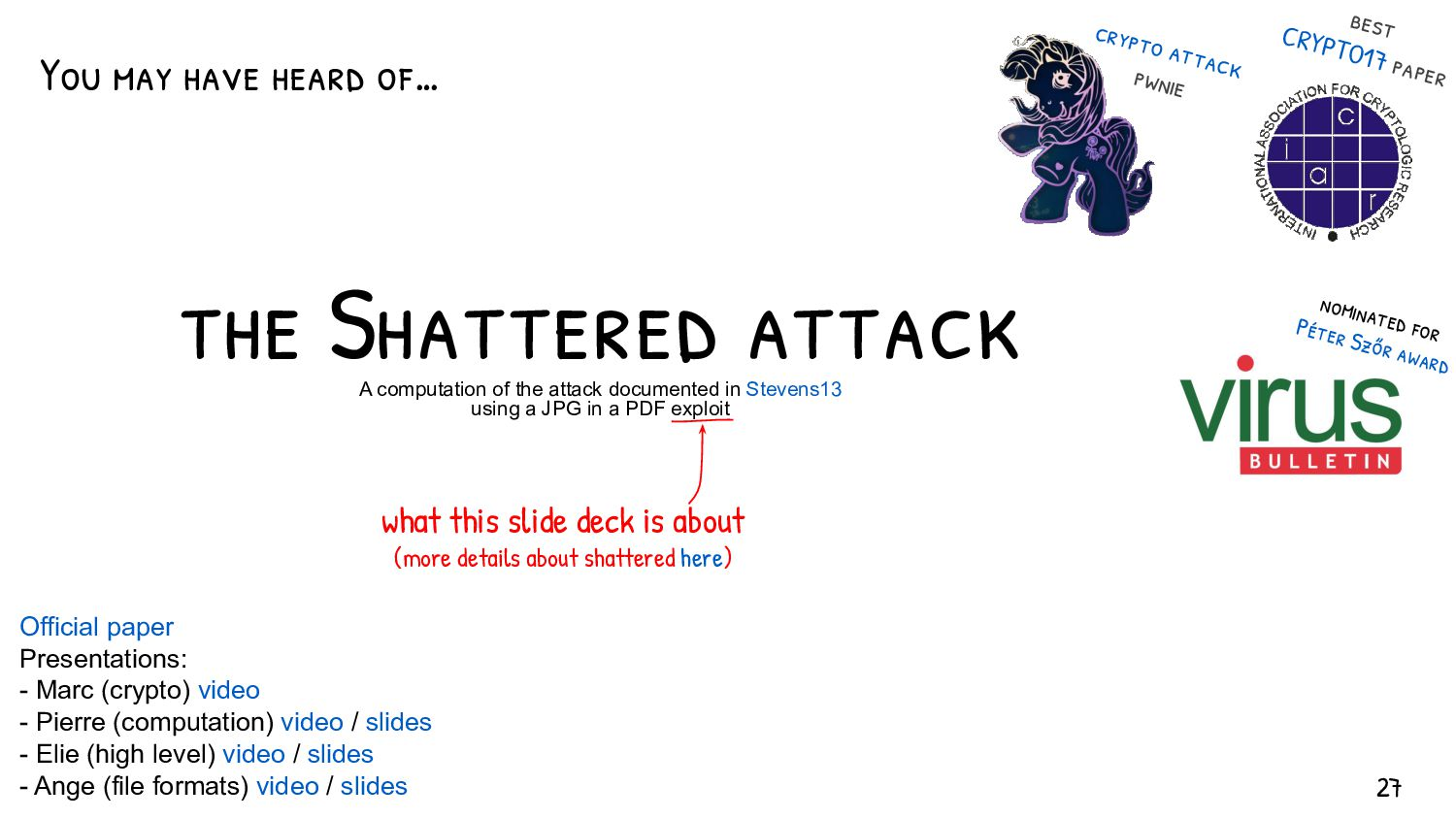 Uses of hashes - check if contents have changed...