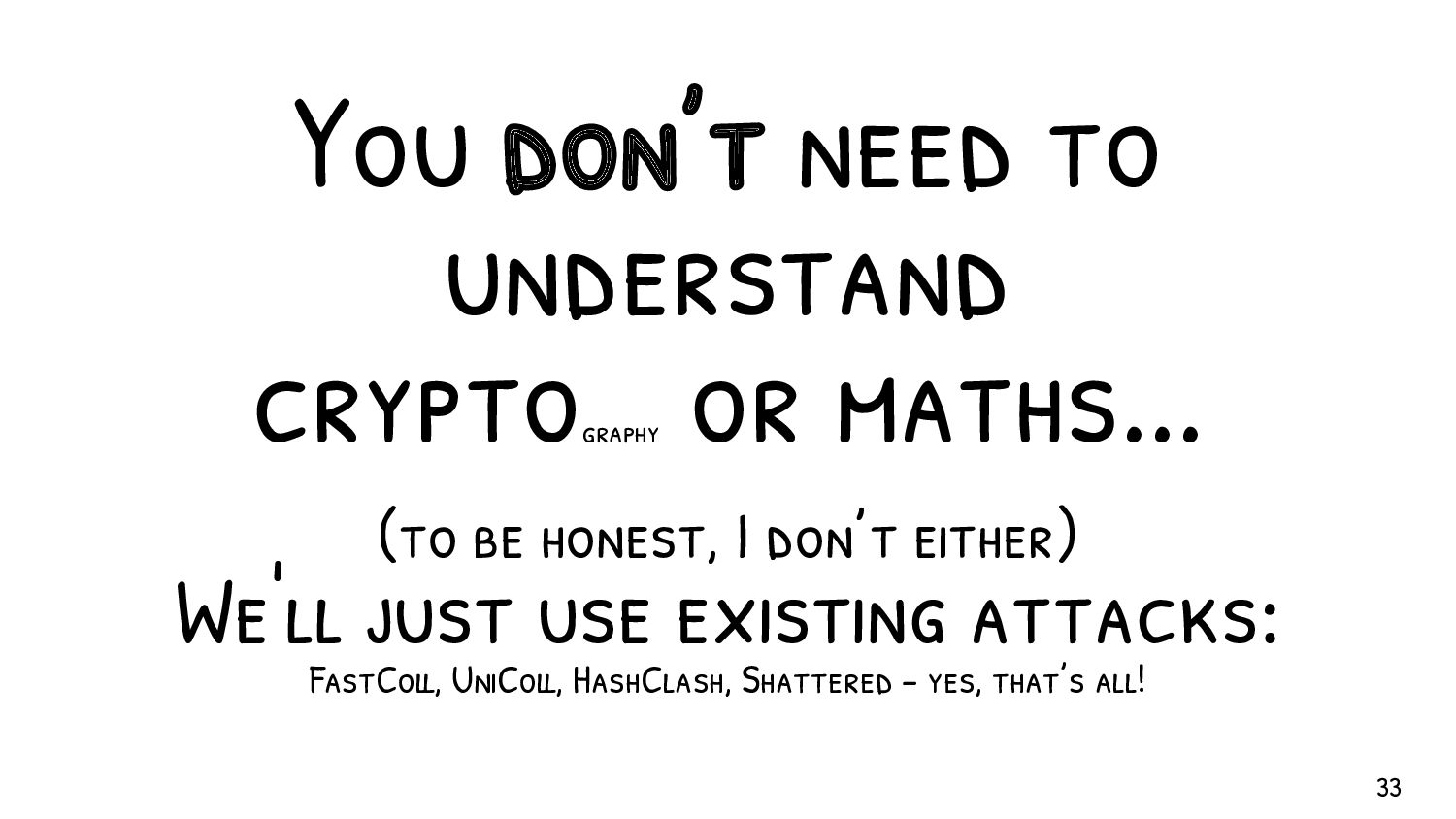 You don't have to be an expert in file formats. ...
