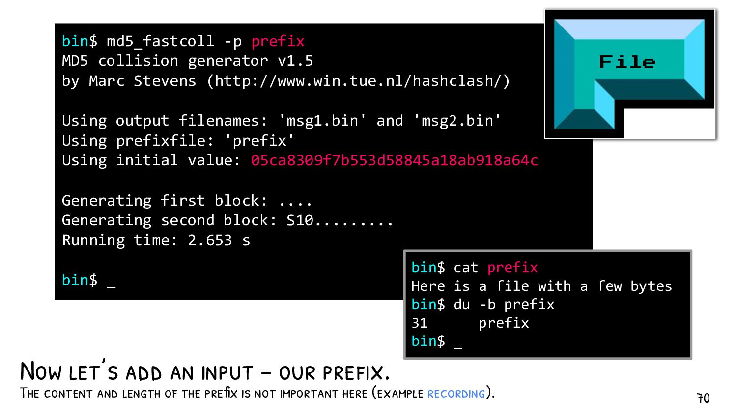File Padding Mission - Padded to 64 bytes - col...