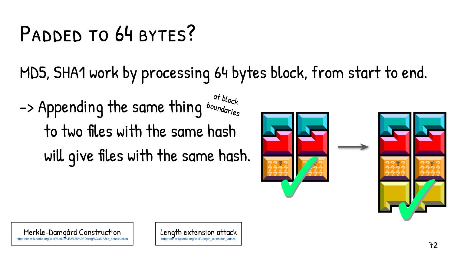 All current hash collisions attacks work with s...