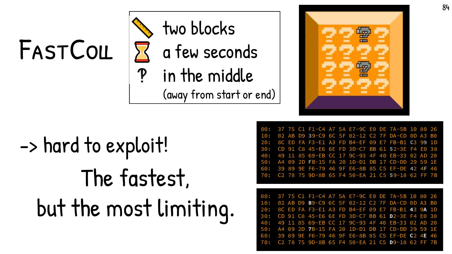 What makes exploiting Fastcoll so difficult? Ev...