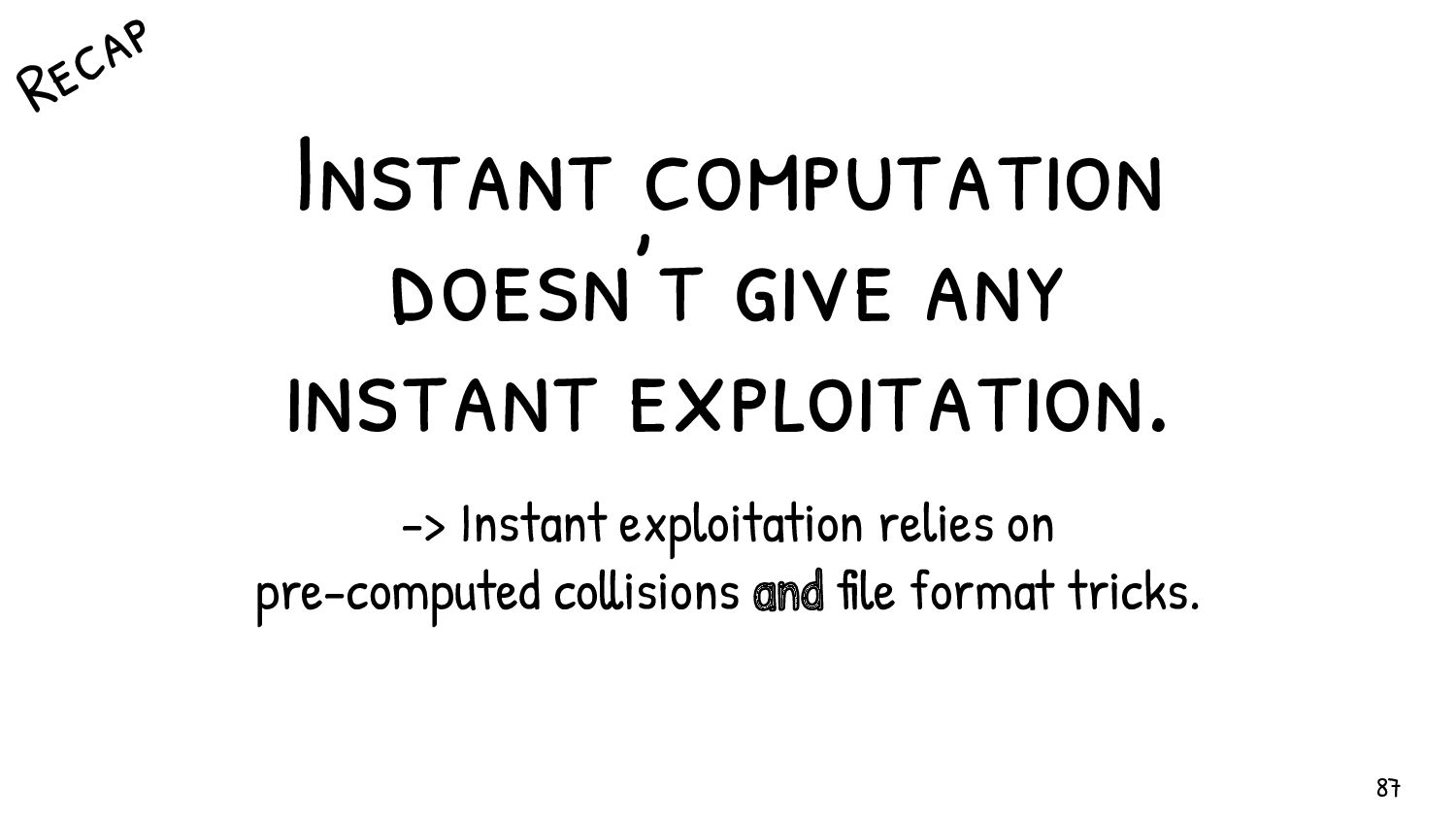 Basics of File formats (most) 87