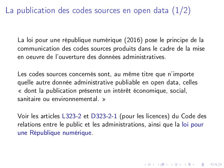 La publication des codes sources en open data (...
