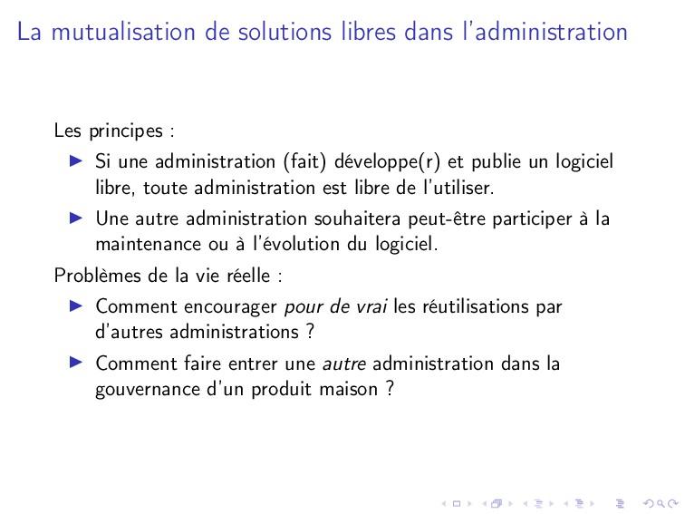 La mutualisation de solutions libres dans l'adm...