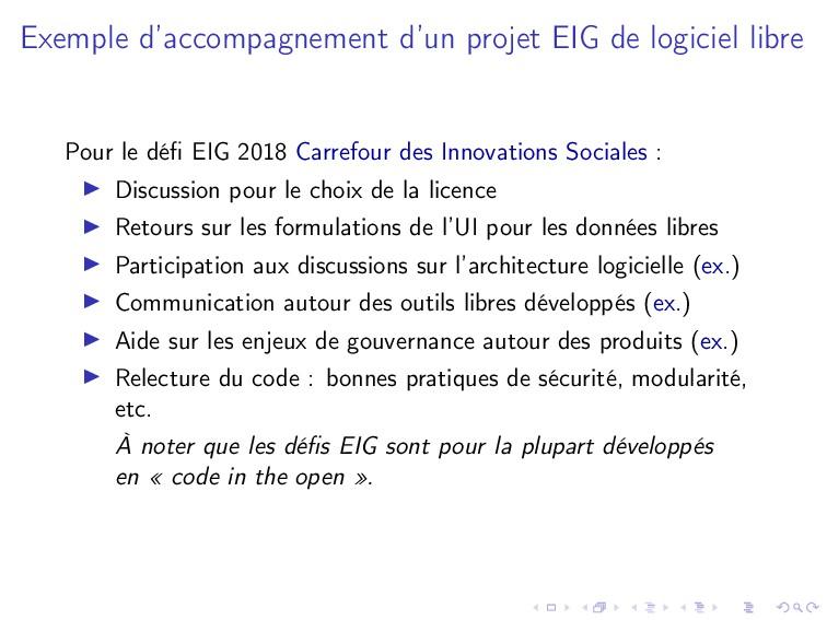Exemple d'accompagnement d'un projet EIG de log...