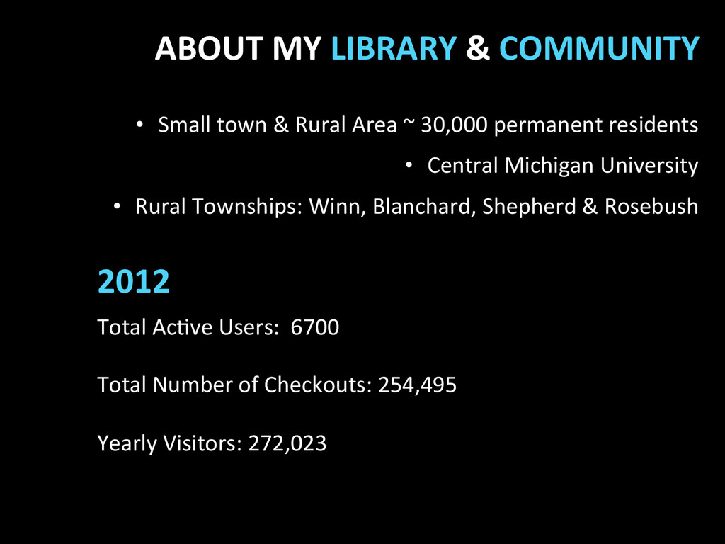 2012  ABOUT MY LIBRARY & COMMUNI...