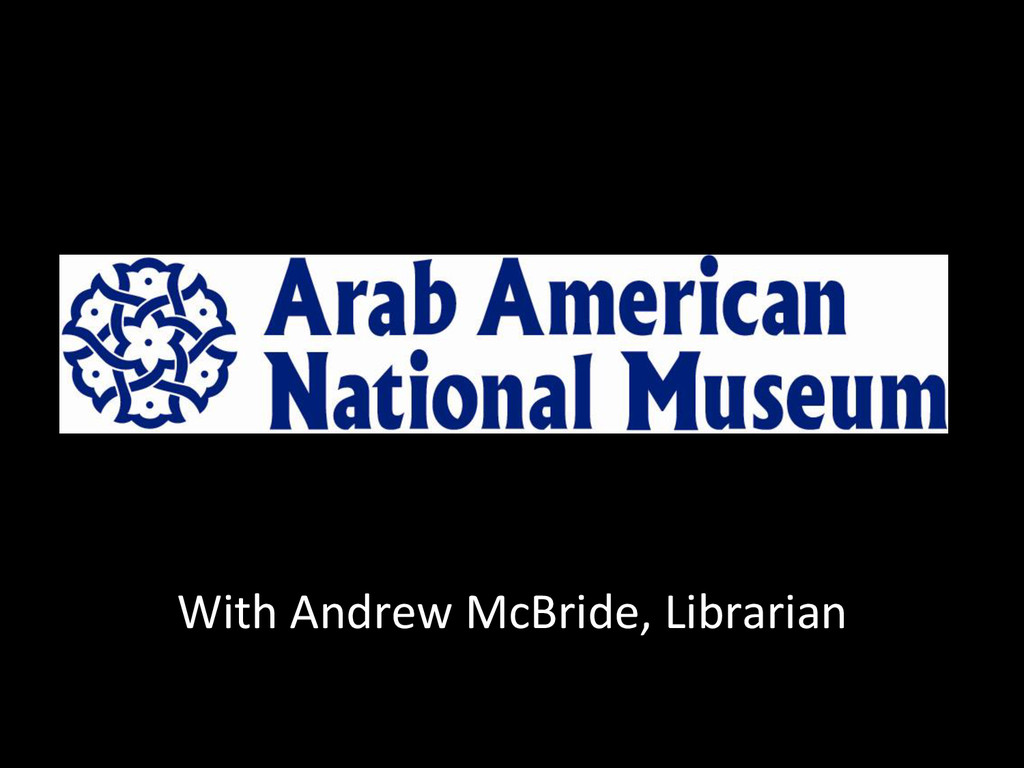 With Andrew McBride, Librarian