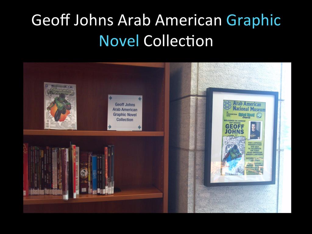 Geoff Johns Arab American Graphic ...