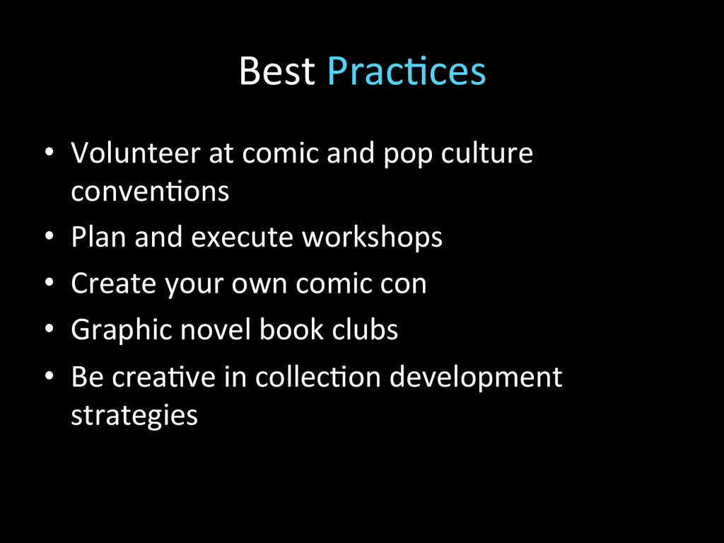 Best Prac2ces  • Volunteer at comi...