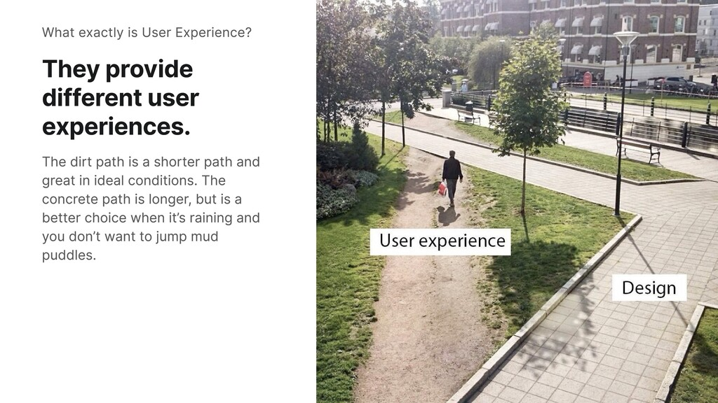 They provide different user experiences. The di...