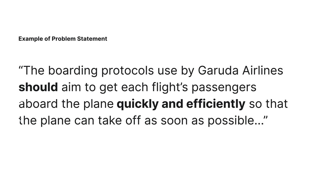 """Example of Problem Statement """"The boarding prot..."""