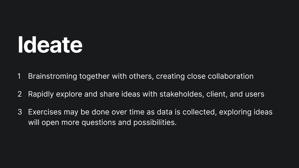 Ideate Brainstroming together with others, crea...